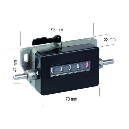 Contametro A 5 Cifre (9999,9) - Metrica